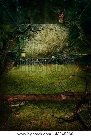 Halloween Design - Forest Grave