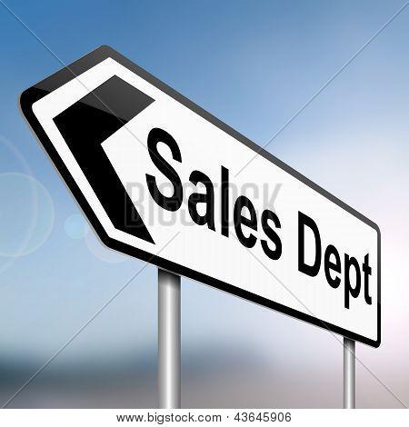 Sales Dept Concept.