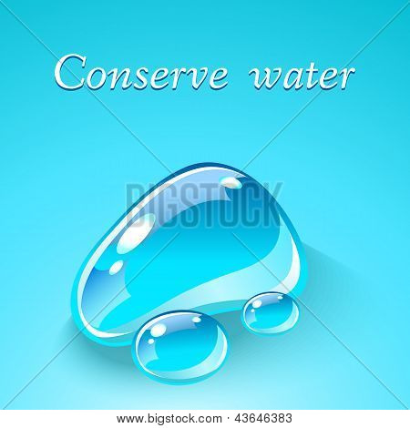 Water drops. Ecological theme concept.