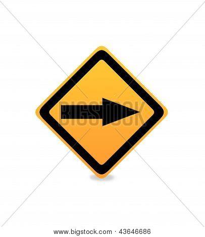 One Way Traffice Sign