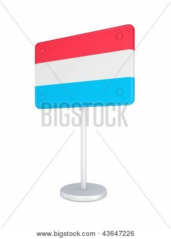 Bunner with flag of Luxembourg.