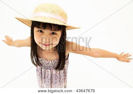 Kleine Mädchen-streching