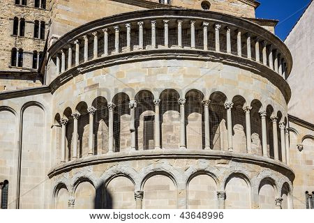 Apse Of Medieval Church In Arezzo, Tuscany, Italy