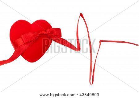 Decorative Heart With Ribbon