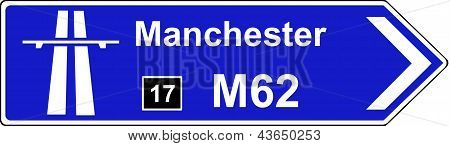 Direction to start of motorway regulations sign