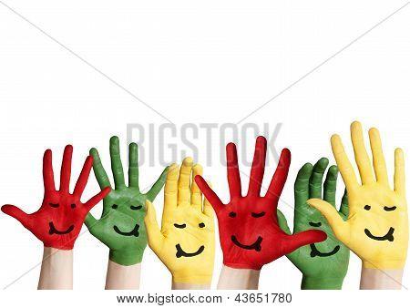 Fett Hände