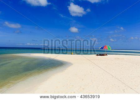 Blue skies & white sands