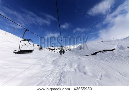 Chair-lift At Ski Resort