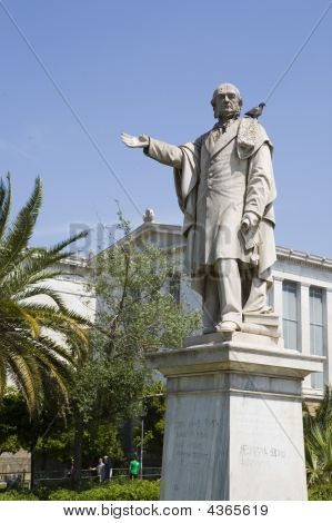 Statue At The Academy Of Athens