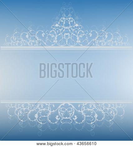 Banner elegante azul