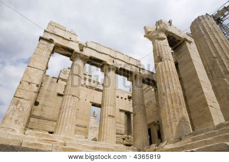 Detail Of Antique Parthenon