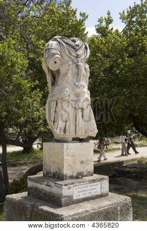Statue In Ancient Agora