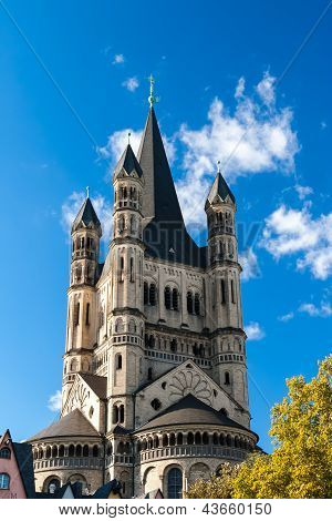 Saint Martin's Church In Koln, Germany