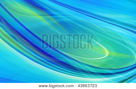 Abstract technology background of blue curved shapes