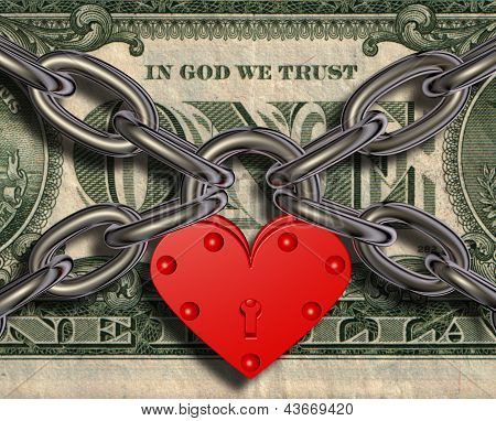 We Love Money - Heart Lock And Money