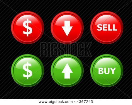 Set Of Vector Icons For Currency Exchange Business Theme On Black Striped Background.