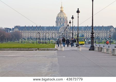View Of Hotel Des Invalides In Paris