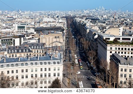 Above View Of Avenue Hoche In Paris