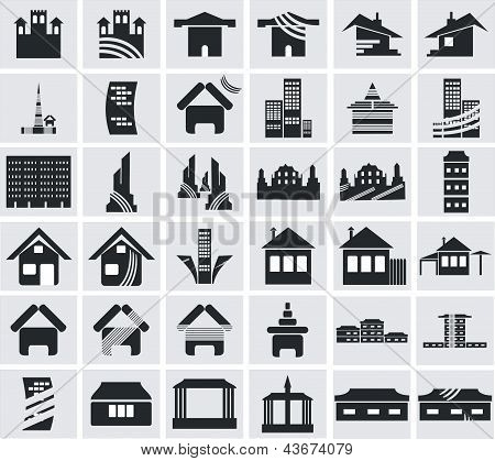 Icons of houses