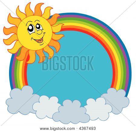 Cute Sun And Rainbow