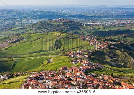 Modern San Marino Suburban Districts View From Above