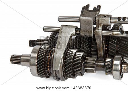 Transmission Gears , Isolated On A White Background