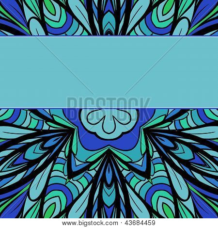 Blue-green Pattern With Stripe
