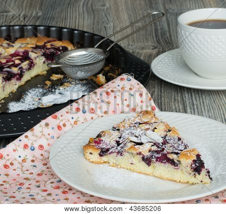 Cake With Blackcurrants And Cherries