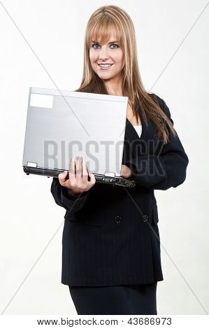 Pretty Attractive Blond Caucasian Businesswoman In Her Twenties