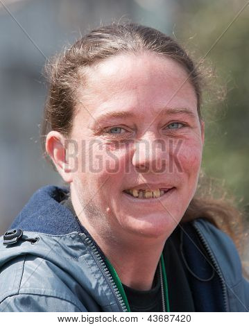 Homeless Woman With Bad Teeth