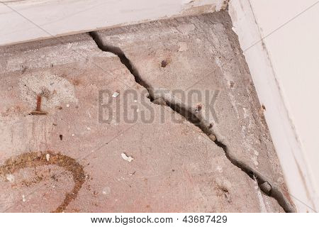 Crack In Concrete Foundation