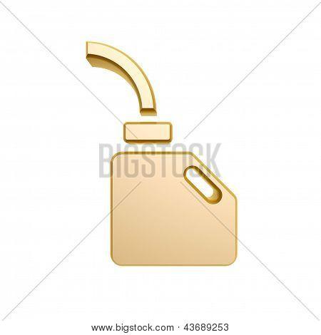 Golden Engine Oil Symbol