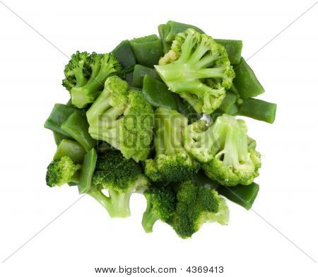 Closeup Photo Of Broccoli And String Beans