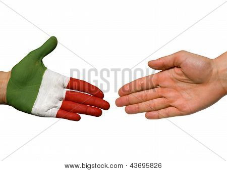 An Italian Hand And A Hand With Copyspace