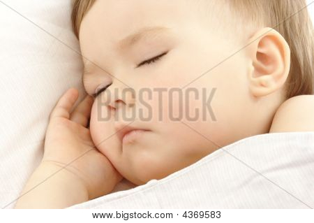 Cute Child Sleep With Hand Under His Cheek