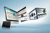 stock photo of e-business  - Web design concept for presentation - JPG