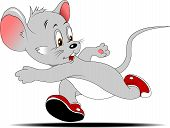 foto of relay  - little mouse is involved in running races - JPG