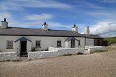 stock photo of anglesey  - Pilots Cottages on Llanddwyn Island - JPG
