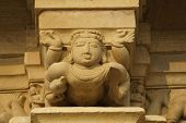 pic of kandariya mahadeva temple  - Sculptures of religious figures decorating the ancient Kandariya Mahadeva Hindu Temple at Khajuraho Uttar Pradesh India. 11th Century AD. ** Note: Slight blurriness, best at smaller sizes - JPG