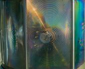 foto of diffraction  - Abstract Colorful Green and Blue Material  for Background  - JPG