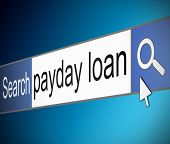 stock photo of payday  - Illustration depicting a screen shot of an internet search bar containing a payday loan concept - JPG