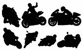 stock photo of siluet  - Motorcycle racing vectors from my sports vectors collection - JPG
