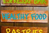 Healthy Food Wood Sign