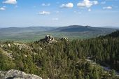 stock photo of ural mountains  - Mountain landscapes in national park Taganai on South Ural in Russia - JPG