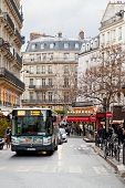 Urban Bus On Paris Street