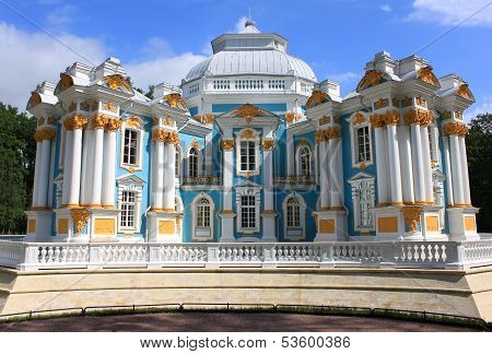 Hermitage Pavilion In Tsarskoye Selo, Russia