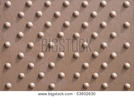 Texture Of Painted Metal Panel With Rivets