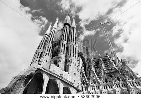 The Basilica of La Sagrada Familia