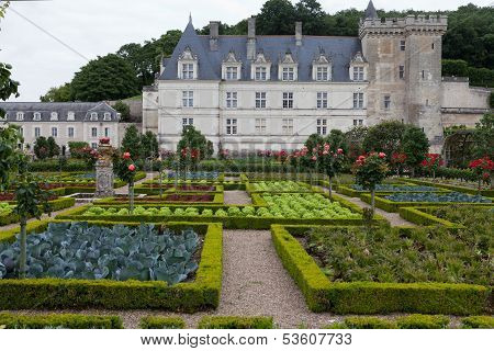 Chateau de Villandry. Loire Valley France