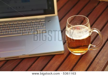 Beer And Laptop